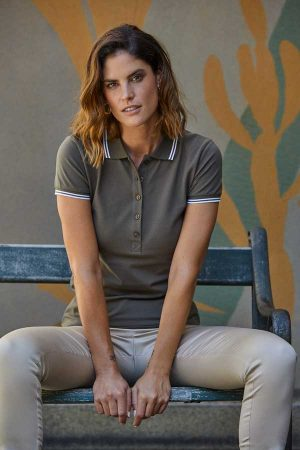 Ženska polo majica kratek rokav Tee Jays Ladies Luxury Stripe Stretch Polo