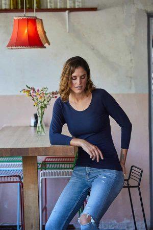 Ženska majica dolg rokav Tee Jays Ladies 3/4 Sleeve Stretch Tee