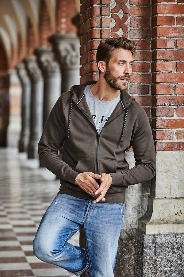 Pulover Tee Jays Fashion Full Zip Hood