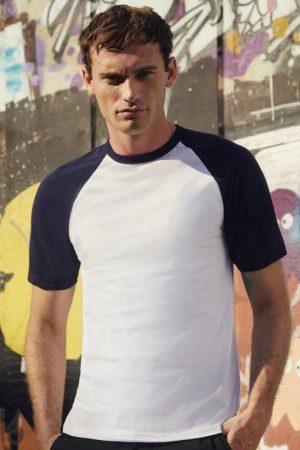 Majica kratek rokav FOTL Valueweight Baseball T