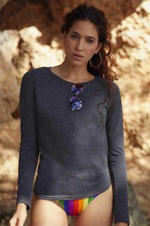 Ženska majica dolg rokav FOTL Ladies' Valueweight Long Sleeve T