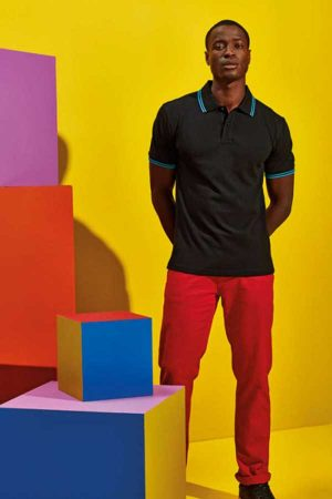Polo majica kratek rokav Asquith & Fox Men's Classic Fit Tipped Polo
