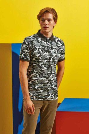Polo majica kratek rokav Asquith & Fox Camo Pique Polo
