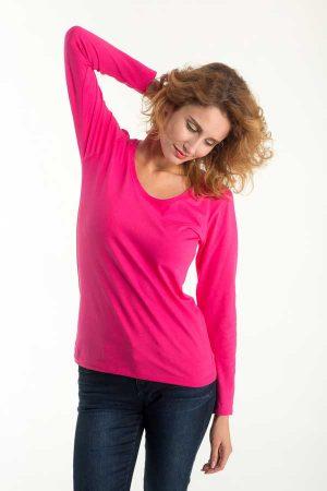 Ženska majica dolg rokav Eurowear Ladies Fitted T-Shirt Long Sleeve