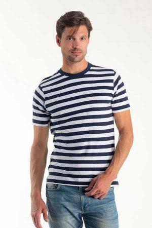 Majica kratek rokav Eurowear Moška Mornarska Majica