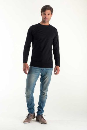 Majica dolg rokav Eurowear Men Fitted T-Shirt Long Sleeve