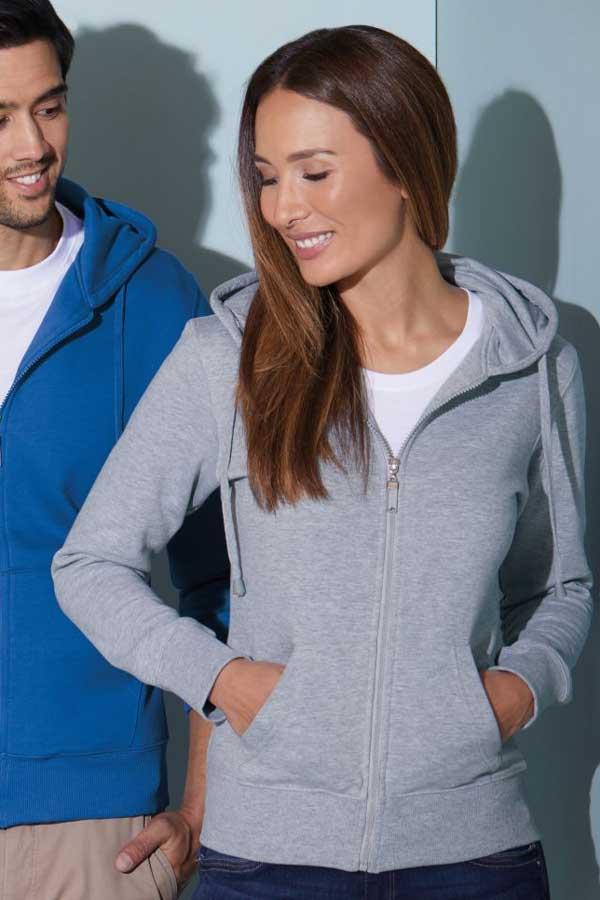 Ženski pulover J&N Ladies' Hooded Sweat Jacket