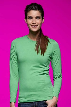 Ženska majica dolg rokav J&N Ladies' Stretch T-Shirt Long-Sleeve