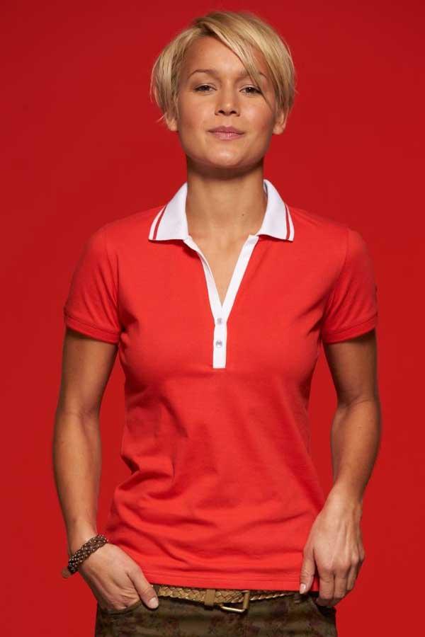 Ženska polo majica kratek rokav J&N Ladies' Stretch Piqué Polo