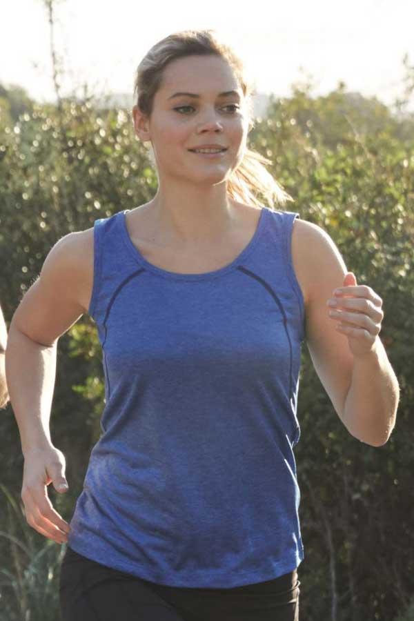 Ženska športna majica brez rokavov J&N Ladies' Sports Shirt Sleeveless