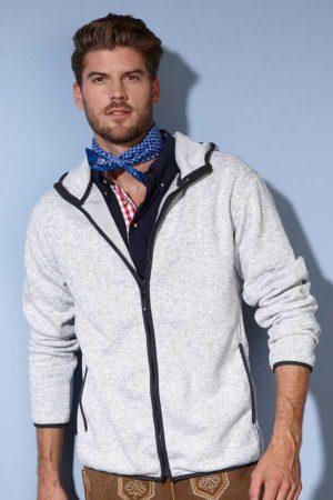 Flis J&N Men's Knitted Fleece Hooded Jacket