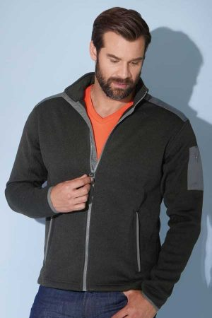 Flis J&N Men's Knitted Fleece Jacket