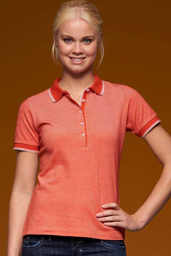 Ženska polo majica kratek rokav J&N Ladies' Piqué Polo 2-Colored
