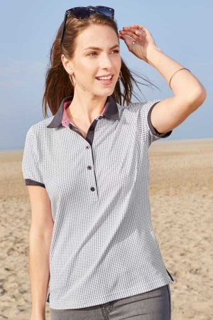 Ženska polo majica kratek rokav J&N Ladies' Printed Polo