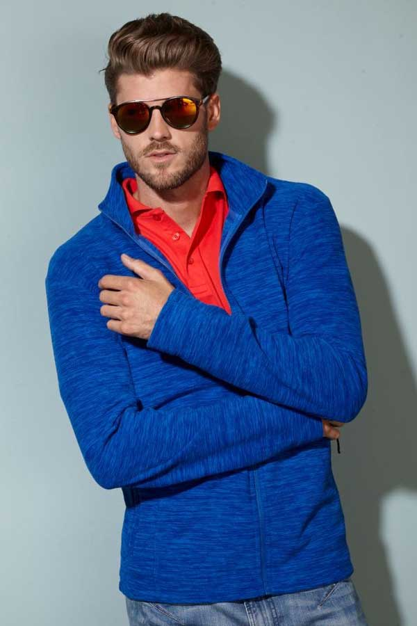 Flis J&N Men's Melange Fleece Jacket