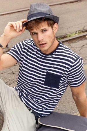 Majica kratek rokav J&N Men's Striped T-Shirt