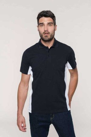 Polo majica kratek rokav Kariban Flag Short Sleeved Two-Tone Polo Shirt