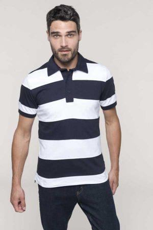Polo majica kratek rokav Kariban Ray Short Sleeved Striped Polo Shirt
