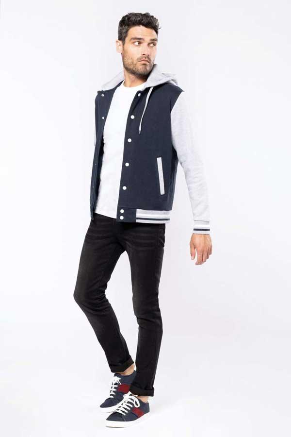 Pulover Kariban Unisex Teddy Jacket With Hood