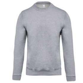 Pulover Kariban Crew Neck Sweatshirt Oxford Grey