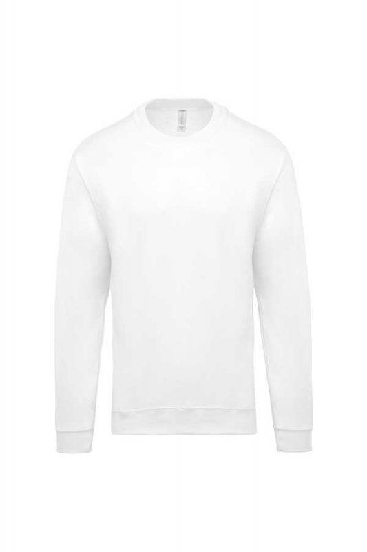 Pulover Kariban Crew Neck Sweatshirt White