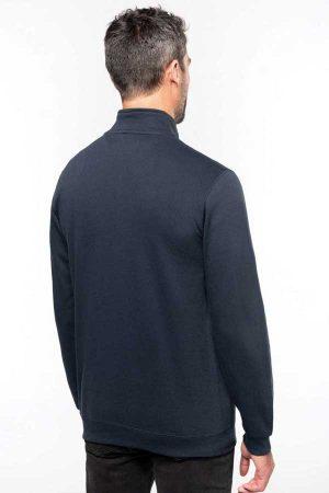 Pulover Kariban Zip Neck Sweatshirt