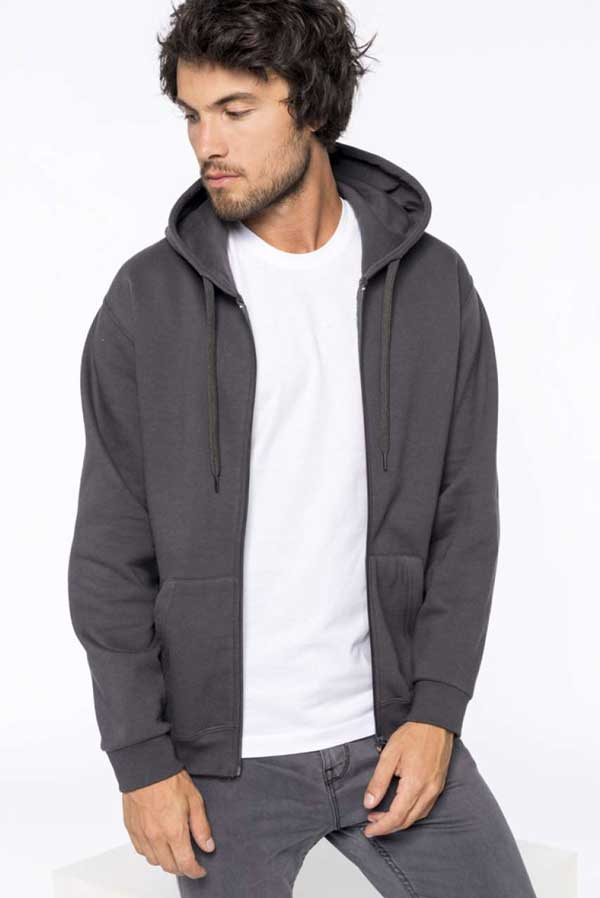 Pulover Kariban Full Zip Hooded Sweatshirt