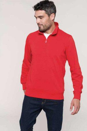 Pulover Kariban Zipped Neck Sweatshirt
