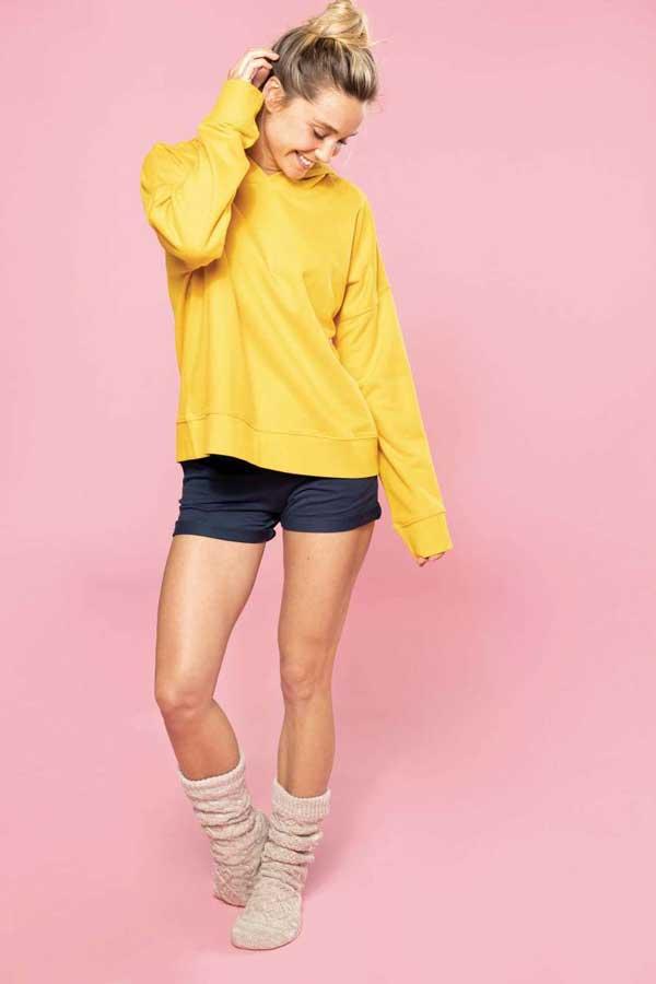 Ženski pulover Kariban Ladies' Organic Lounge Hoodie