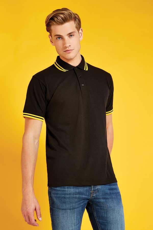 Polo majica kratek rokav Kustom Kit Classic Fit Tipped Collar Polo