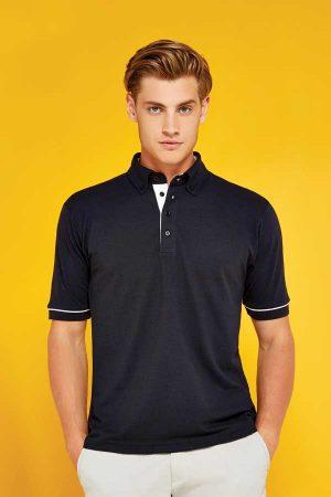 Polo majica kratek rokav Kustom Kit Classic Fit Button Down Contrast Polo Shirt