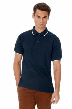 Polo majica kratek rokav B&C Safran Sport Tipped Polo