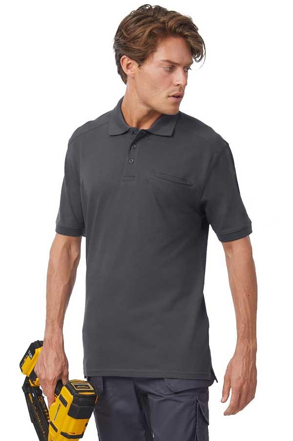 Delovna polo majica kratek rokav B&C Skill Pro Workwear Pocket Polo