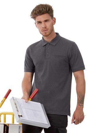 Delovna polo majica kratek rokav B&C Energy Pro Workwear Pocket Polo