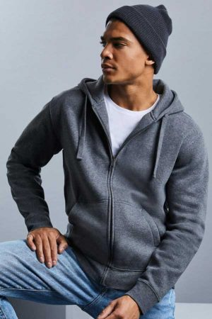 Pulover Russell Men's Authentic Melange Zipped Hood Sweat