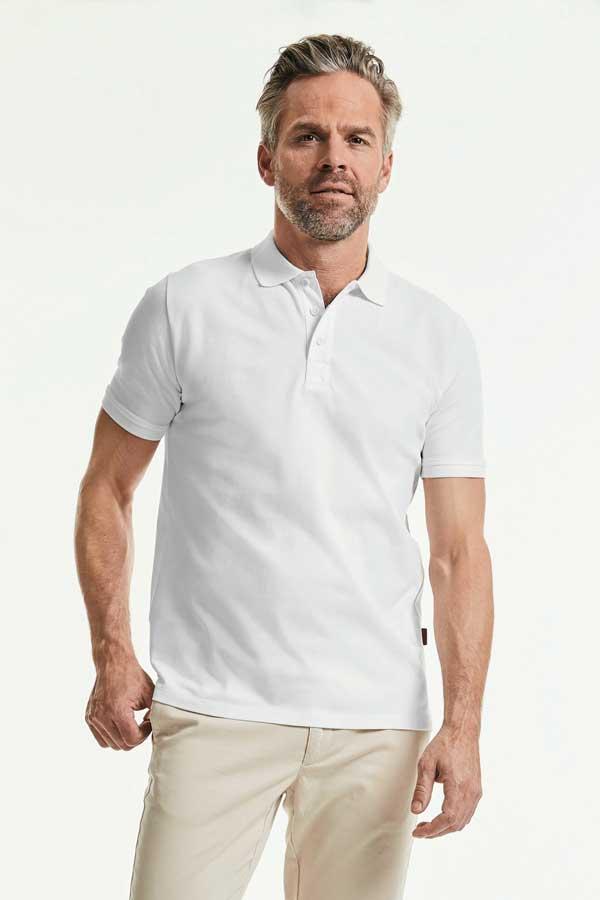 Polo majica dolg rokav Russell Men's Pure Organic Polo