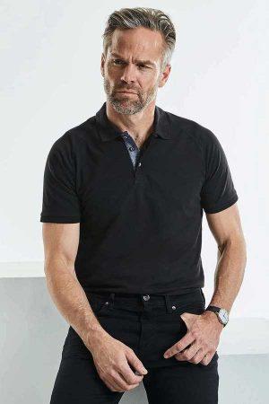 Polo majica dolg rokav Russell Men's HD Raglan Polo