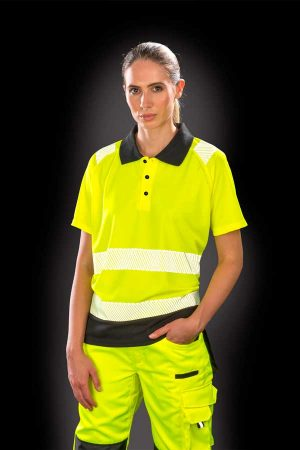 Delovna polo majica kratek rokav Result Recycled Safety Polo Shirt
