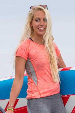 Ženska športna majica kratek rokav Spiro Fitness Women's Tech Panel Marl T