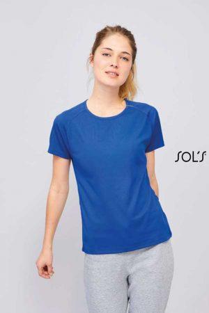Ženska športna majica kratek rokav Sol's Sporty Women – Raglan Sleeved T-Shirt