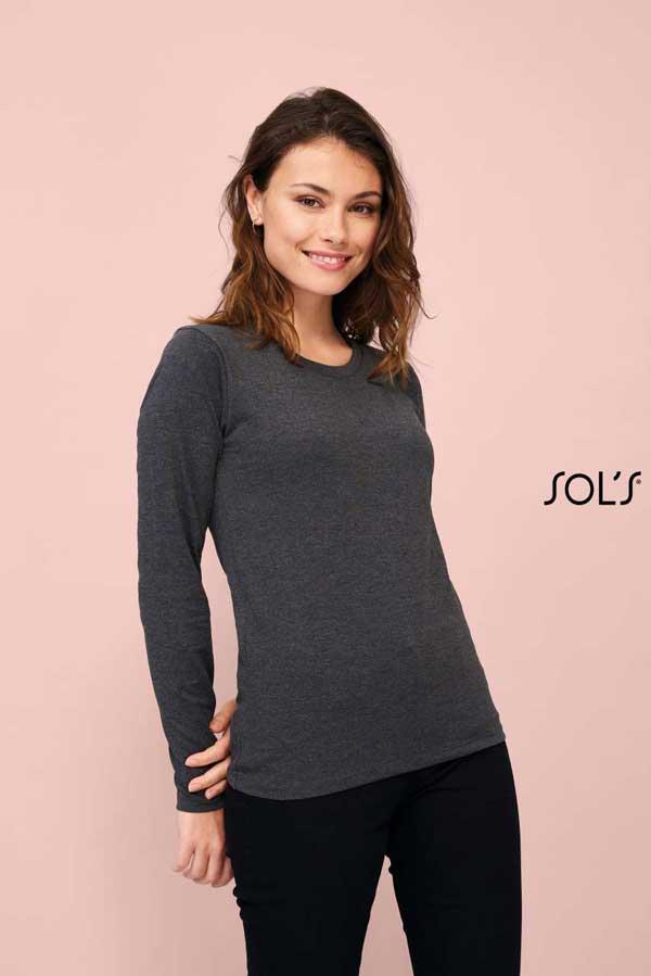 Ženska majica dolg rokav Sol's Imperial LSL Women Long Sleeve T-Shirt