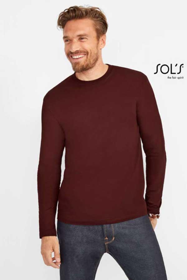 Majica dolg rokav Sol's Monarch Men's Round Collar Long Sleeve T-Shirt