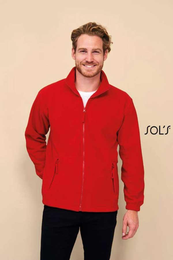 Flis Sol's North Men – Zipped Fleece Jacket