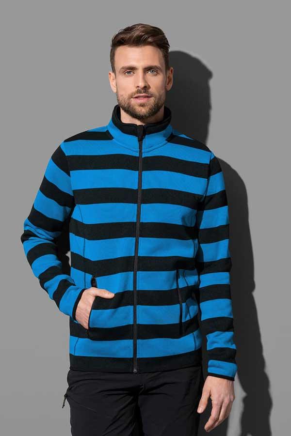 Pulover Stedman Striped Fleece Jacket
