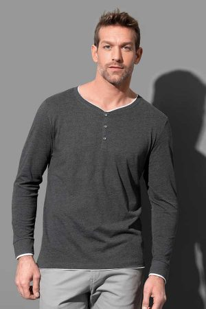 Majica dolg rokav Stedman Luke Long Sleeve Henley T-shirt Men