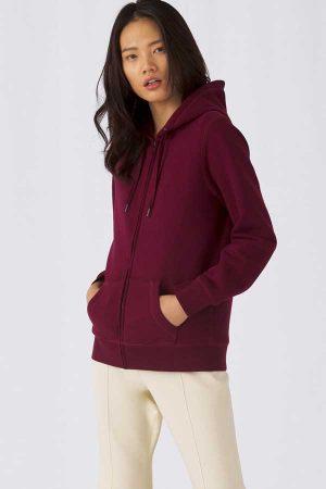 Ženski pulover B&C QUEEN Zipped Hooded /Women
