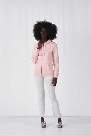 Ženski pulover B&C Organic Zipped Hooded /Women