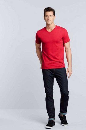 Majica kratek rokav Premium Cotton Adult V-Neck T-Shirt