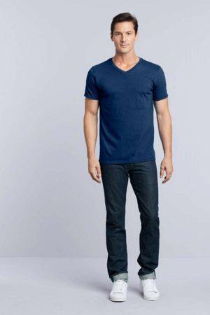 Majica kratek rokav Gildan Mens Softstyle® V-Neck T-Shirt