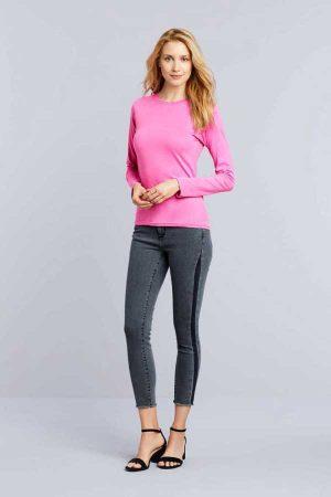 Ženska majica dolg rokav Gildan Softstyle Ladies Long Sleeve